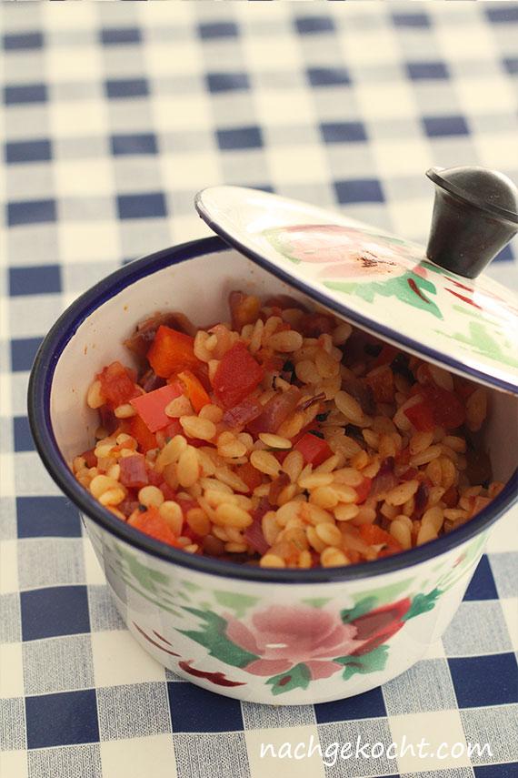 Nudeln die aussehen wie Reis