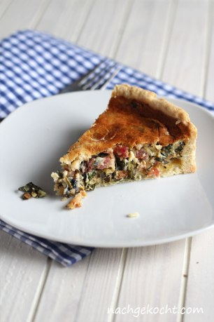 Mangold Bacon Quiche