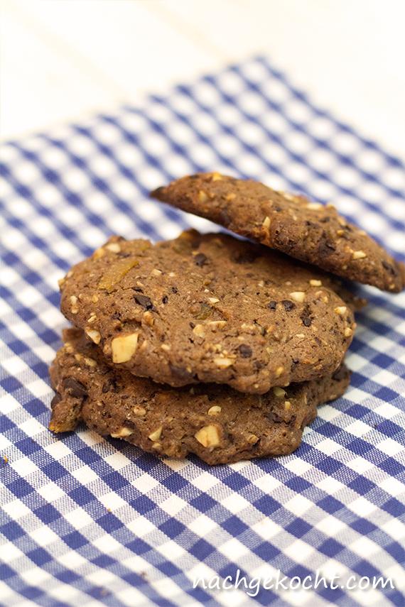 Schoko-Ingwer Cookies