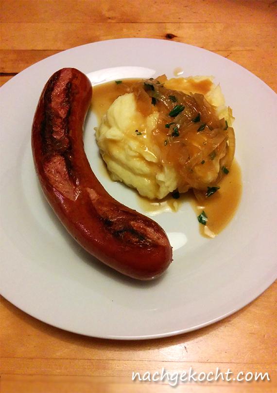 Rossbratwurst mit Kartoffelpueree