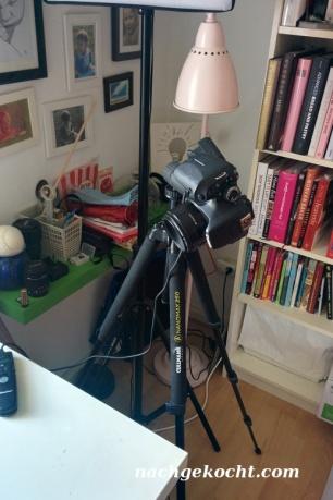 Kamera mit Stativ