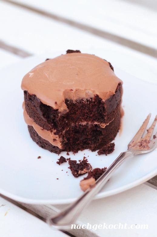 Schokoladen Törtchen für zwei