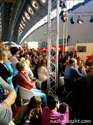 Zuschauer bei Sarah Wiener Buchmesse 2014