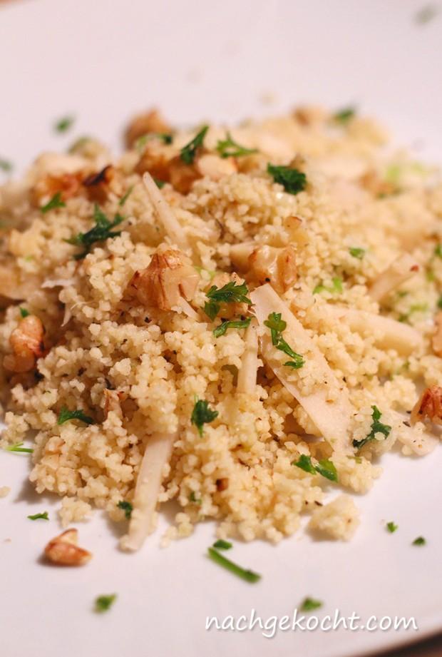 Couscous mit Walnuss und Pastinaken