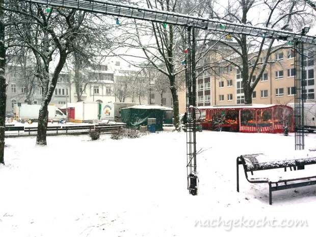 Markt im Schnee