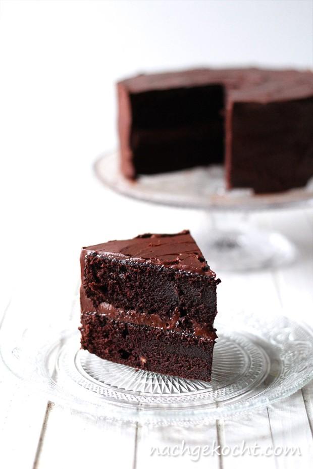 Schokoladen Kuchenstueck