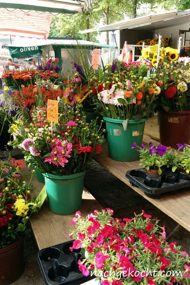 Blumen am Frankenberger Markt Sommer2015