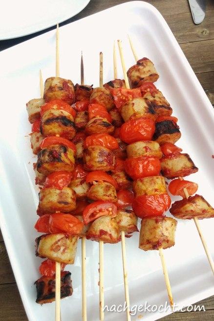 Tomaten-Würtchen-Spieße