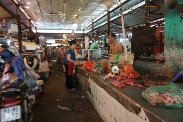Marthalle Hanoi Fleisch Verkauf